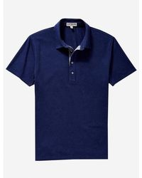 Express - Chambray Placket Performance Polo - Lyst