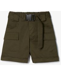 Express - Olivia Culpo High Waisted Cargo Shorts Green - Lyst