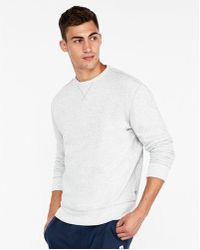 Express - Exp Weekend Vintage Fleece Drop Shoulder Sweatshirt - Lyst