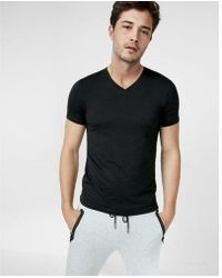 Express - Supersoft V-neck Tee - Lyst