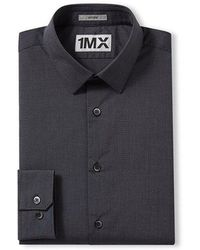 Express - Fitted Textured 1mx Shirt - Lyst