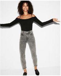 Express - Off The Shoulder Thong Bodysuit - Lyst