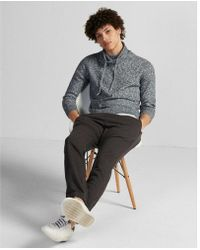 Express - Marled Funnel Neck Pullover Sweater - Lyst
