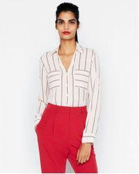Express - Original Fit Striped Portofino Shirt - Lyst