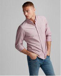 Express - Slim Soft Wash Oxford Shirt - Lyst
