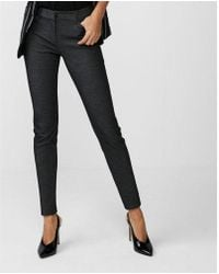 Express - Mid Rise Skinny Stretch Columnist Ankle Pant - Lyst