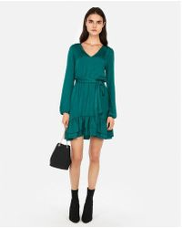 Express - Ruffle Hem Elastic Waist Dress - Lyst