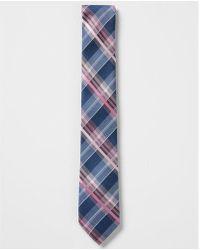 Express - Narrow Plaid Silk Tie - Lyst