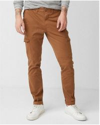 Express - Skinny Garment Dyed Stretch Cargo Pant - Lyst
