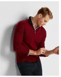 Express | Merino Wool Blend Thermal Regulating Mock Neck Sweater | Lyst