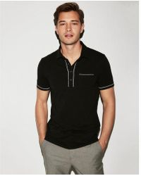 Express - Ig & Tall Piped Moisture-wicking Stretch Polo - Lyst