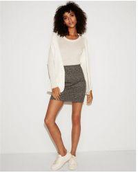 Express - High Waisted Marled Mini Skirt - Lyst