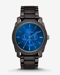 Express - Rivington Multi-function Laser Crystal Watch - Lyst
