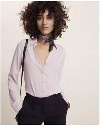 Express - Slim Fit No Pocket Portofino Shirt - Lyst