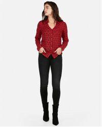 Express - Original Fit Snowflake Portofino Shirt - Lyst