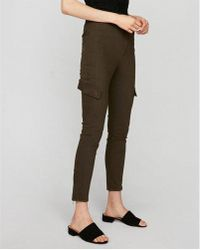 Express - Super High Waisted Cargo Ankle Pant - Lyst