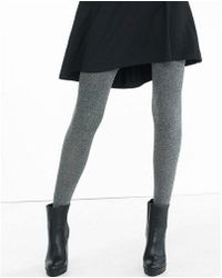 Express - Marled Full Tights - Lyst