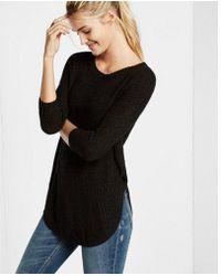Express - Shaker Knit Circle Hem Sweater - Lyst