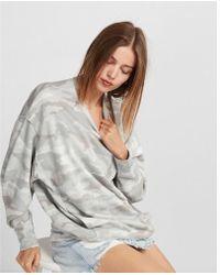 Express - Oversized Camo Sweatshirt - Lyst