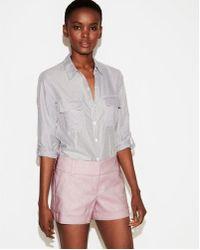 Express - Low Rise Linen-blend Shorts - Lyst