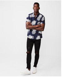 Express - Pineapple Button Up Shirt - Lyst