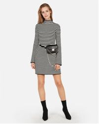e26e4d306d1 Express Ruched Color Block Front Sweater Dress in Gray - Lyst