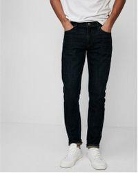 Express - Skinny Dark Wash Soft Cotton Jeans, Men's Size:w31 L34 - Lyst