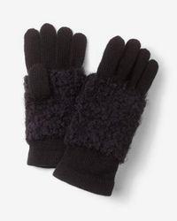 Express Popcorn Knit Gloves - Black