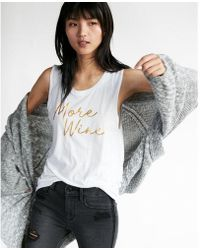 Express - More Wine Muscle Tank - Lyst