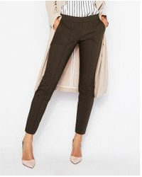 Express - Low Rise Ankle Pintuck Columnist Pant - Lyst