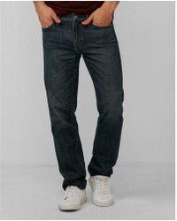 Express - Ig & Tall Slim Dark Wash Distressed Pocket 100% Cotton Jeans, Men's Size:w38 L36 - Lyst