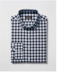 Express - Slim Plaid Spread Collar Dress Shirt - Lyst