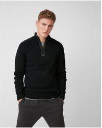 Express - Half-zip Textured Shoulder Jumper - Lyst