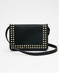 Express - Studded Flat Cross Body Bag - Lyst
