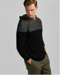 Express - Ribbed Hooded Jumper - Lyst