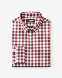 Express - Extra Slim Check Wrinkle-resistant Performance Dress Shirt - Lyst