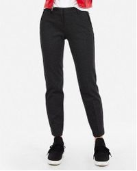 Express - Mid Rise Piped Columnist Ankle Pant - Lyst