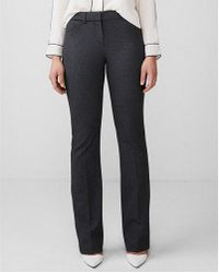 Express - Mid Rise Birdseye Barely Boot Publicist Pant - Lyst