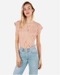 443ae723e8afd Express - Striped Strappy Cross Front Gramercy Tee - Lyst