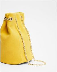 Express - Chain Handle Bucket Bag - Lyst