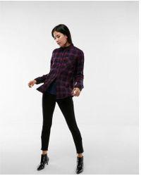 Express - Flannel Boyfriend Shirt - Lyst
