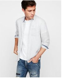 Express - Slim Soft Wash Stripe Button-down Shirt - Lyst