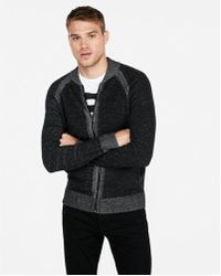 Express - Marled Zip Front Cardigan - Lyst