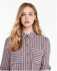 Express - Striped City Shirt - Lyst