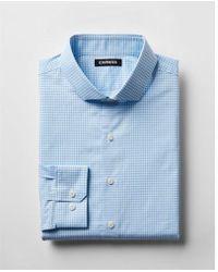 Express - Ig & Tall Slim Check Print Dress Shirt - Lyst