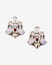 Express - Stone Statement Stud Earrings - Lyst