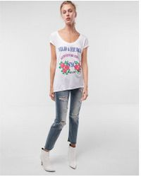 Express - Ld And Fierce Graphic Tee - Lyst