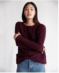 Express - Oversized Hi-lo Tunic Sweater - Lyst