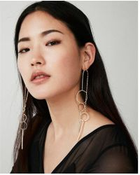 Express | Eometric Drop Earrings | Lyst