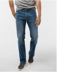 Express - Slim Straight Medium Wash Tough Stretch+ Jeans, Men's Size:w28 L30 - Lyst